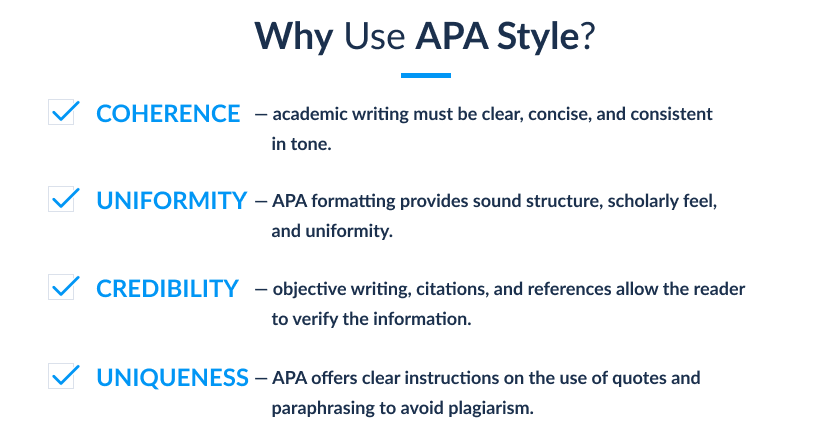 why use APA style